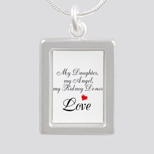 My Daughter,my Angel Silver Portrait Necklace