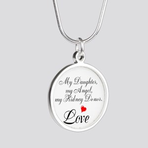 My Daughter,my Angel Silver Round Necklace
