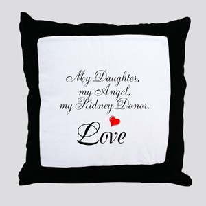 My Daughter,my Angel Throw Pillow