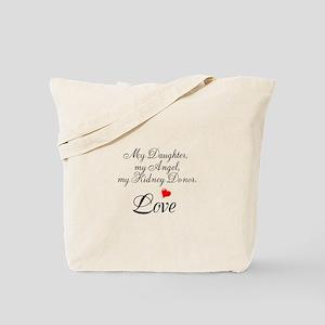 My Daughter,my Angel Tote Bag