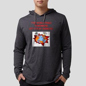 cribbage Mens Hooded Shirt