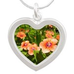 Scarlet Pimpernel Silver Heart Necklace