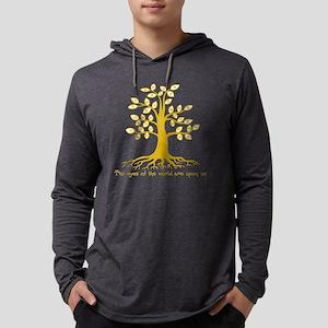 eyetree1-yel-T Mens Hooded Shirt
