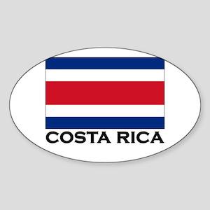 Costa Rica Flag Stuff Oval Sticker
