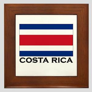 Costa Rica Flag Stuff Framed Tile