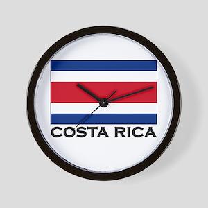 Costa Rica Flag Stuff Wall Clock