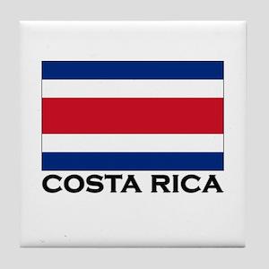 Costa Rica Flag Stuff Tile Coaster