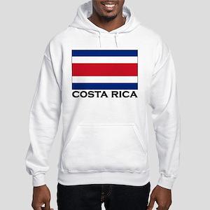 Costa Rica Flag Stuff Hooded Sweatshirt