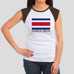 Costa Rica Flag Stuff Women's Cap Sleeve T-Shirt
