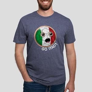 ItalyFaceSoccerBlackTrans.p Mens Tri-blend T-Shirt