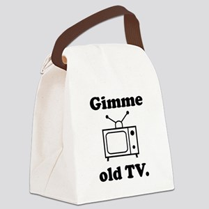 Old TV Canvas Lunch Bag