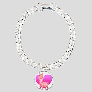 alpaca Charm Bracelet, One Charm