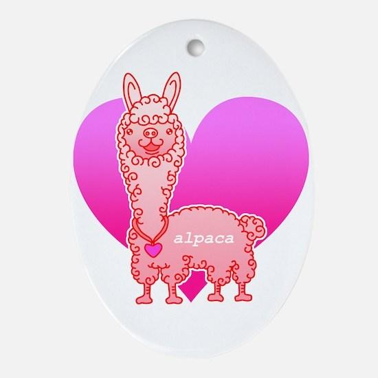 alpaca Ornament (Oval)
