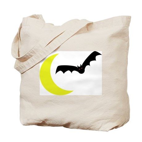 Deluxe Bat & Moon Trick or Treat Bag, two-sided