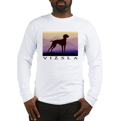 vizsla dog w/purple mountains Long Sleeve T-Shirt