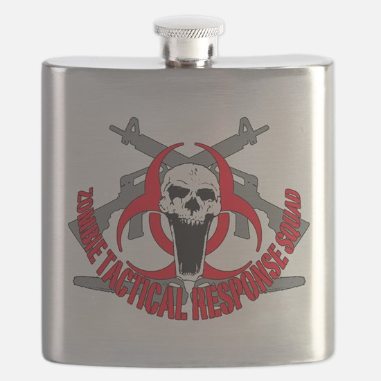 Zombie tactical response red Flask