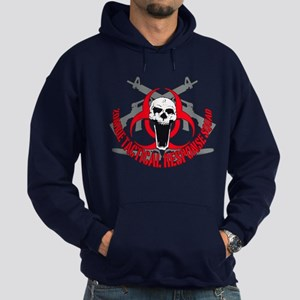 Zombie tactical response red Hoodie (dark)