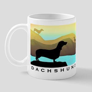 dachshunds by the sea Mug
