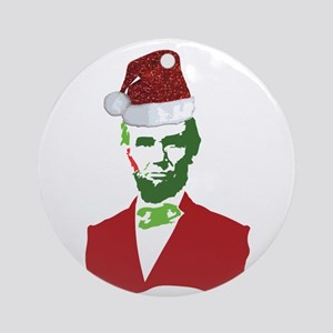 Merry Xmas, Abe! Ornament (Round)