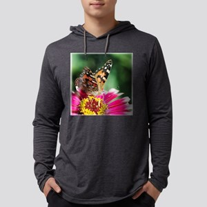 ButterflyPLonPink 1225x1250 Mens Hooded Shirt
