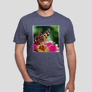 ButterflyPLonPink 1225x1250 Mens Tri-blend T-Shirt
