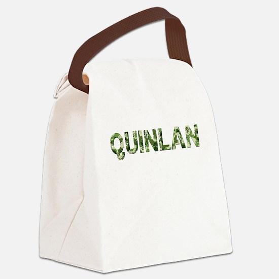 Quinlan, Vintage Camo, Canvas Lunch Bag