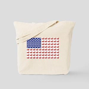 Patriotic Dachshund/USA Tote Bag