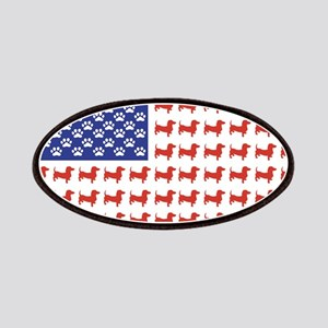 Patriotic Dachshund/USA Patches