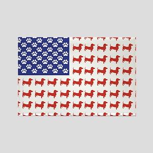 Patriotic Dachshund/USA Rectangle Magnet