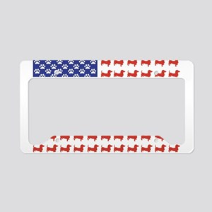 Patriotic Dachshund/USA License Plate Holder
