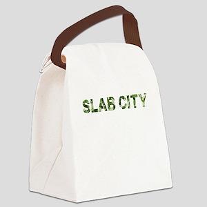 Slab City, Vintage Camo, Canvas Lunch Bag