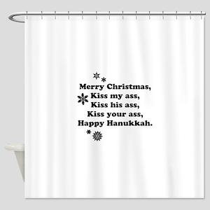 Merry-BKXmas Shower Curtain