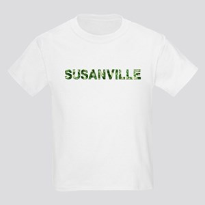 Susanville, Vintage Camo, Kids Light T-Shirt