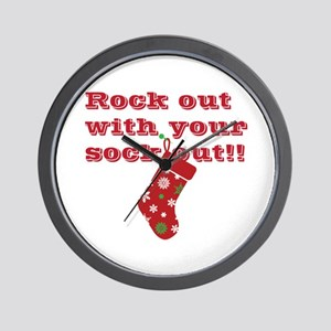rock-out-sock-out Wall Clock