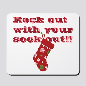 rock-out-sock-out Mousepad