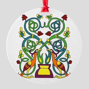 Celtic Tree of Life Round Ornament