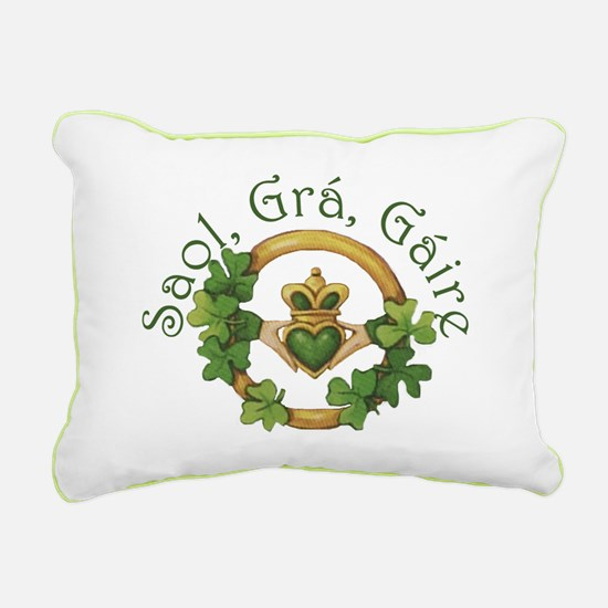Life, Love, Laughter Rectangular Canvas Pillow