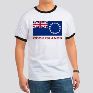 The Cook Islands Flag Merchandise Ringer T