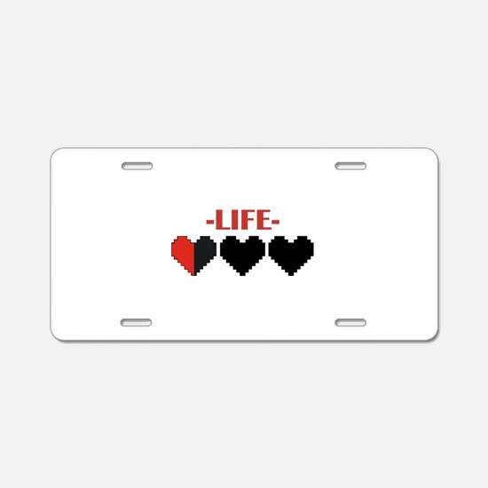 Cute Bars Aluminum License Plate