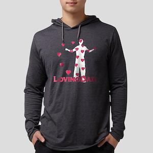 lovingdad_hearts Mens Hooded Shirt