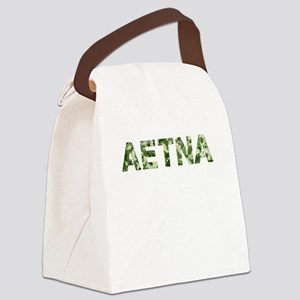 Aetna, Vintage Camo, Canvas Lunch Bag
