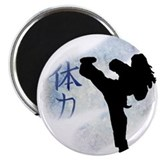 Kick boxing Round Magnets
