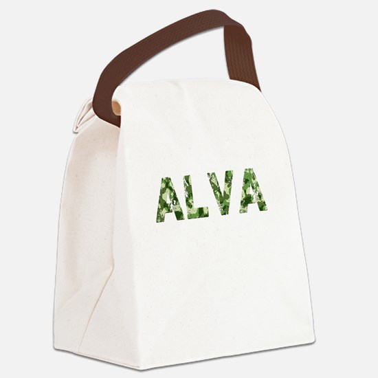 Alva, Vintage Camo, Canvas Lunch Bag