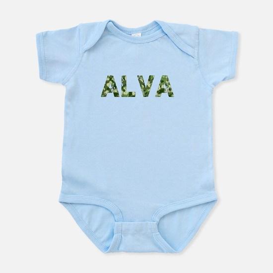 Alva, Vintage Camo, Infant Bodysuit
