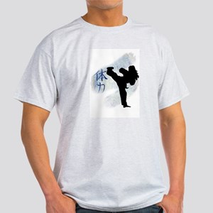 Round Kick 2 Ash Grey T-Shirt