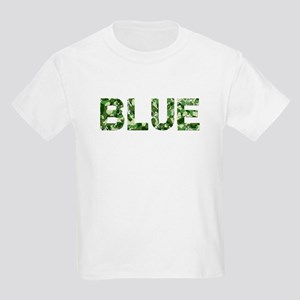 Blue, Vintage Camo, Kids Light T-Shirt