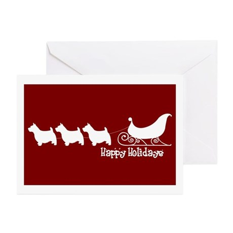 """Norwich Terrier """"Sleigh"""" Greeting Cards (Package o"""