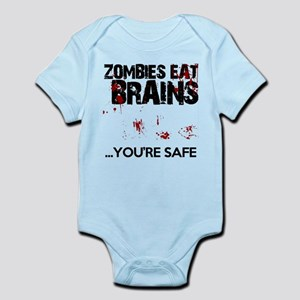 zombies eat brains youre safe funny Infant Bodysui