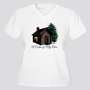 A Cabin of My Own Women's Plus Size V-Neck T-Shirt