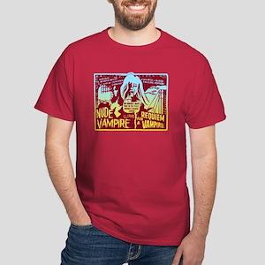 Nude Vampire Horror Red T-Shirt